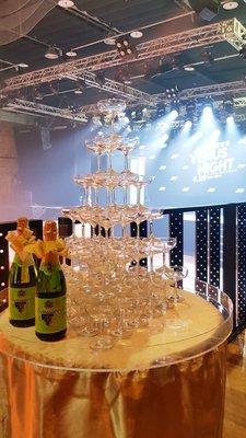 情意花坊永和花店開幕活動記者會香檳杯塔租用專人來回收送