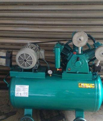 中古復盛型5HP高壓空壓機(單相 220V 修車業的最愛 加大到200L儲氣桶)