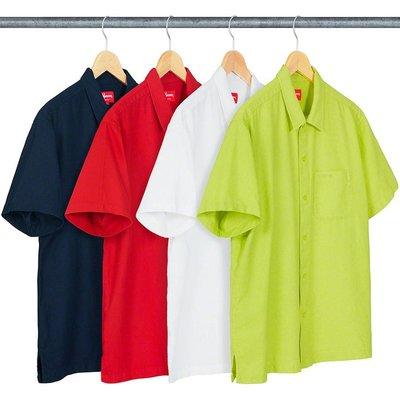 【美國鞋校】預購 SUPREME SS19  Pinhole S/S Shirt 短袖襯衫 四色