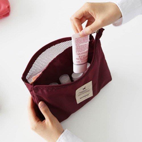 ♀高麗妹♀韓國 monopoly MESH POUCH L 完美旅行 化妝品/小物 旅行箱收納袋/包中包(3色選)預購