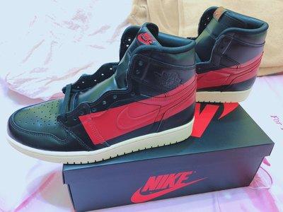 全新現貨US9小尺碼  Air Jordan 1 Defiant Couture BQ6682-006 禁穿 紅黑