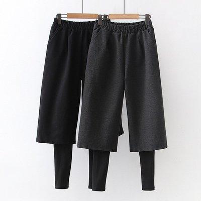 【60436】褲子  日系森女系假兩件毛呢九分褲。☆*藍荳荳小舖*☆(預購)