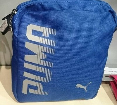 PUMA斜背包 (小ㄉ-07471702藍色) 側背包 外出隨身包 小方包 A4放不下 正品公司貨 P9