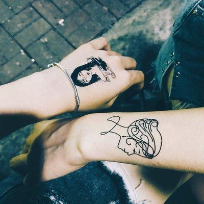 熱賣款-黑暗系紋身貼防水 男女 持久 韓國 仿真 性感手繪刺青小清新貼紙#紋身貼#刺青#花臂#貼紙
