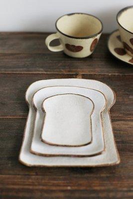 發現花園生活館- 日本製 職人手作 吐司造型  點心餐盤~大 土司盤