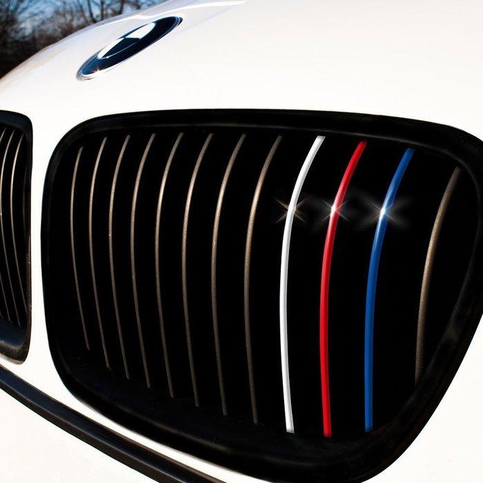 BMW  M系中網貼紙/水箱罩貼紙/三色裝飾貼紙 適用於所有寶馬車型