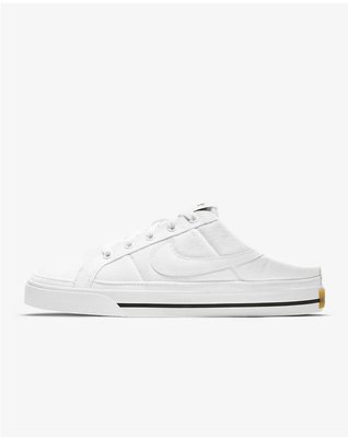 Nike Court Legacy Mule 穆勒鞋 白 DB3970-100。太陽選物社