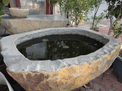 ╭☆雨過天青☆╮安山岩水砵 踏板 玄武岩石桌 盆景 抿石子 卵石 庭園造景