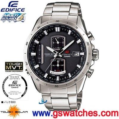 【金響鐘錶】全新CASIO EQW-A1110D-1ADR,公司貨,EQW-A1110D-1A,EDIFICE,電波時計
