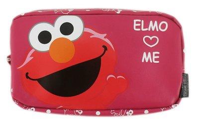 【卡漫迷】 芝麻街 筆袋 ㊣版 拉鍊 鉛筆盒 防水 化妝包 收納袋 萬用包 鉛筆袋 Elmo Sesame Street