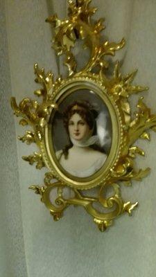 手繪  精緻 瓷畫 露易絲 Luise 公主 賣 9萬8
