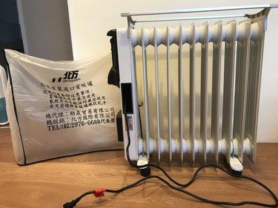 北方葉片式電暖器 11片  (二手)