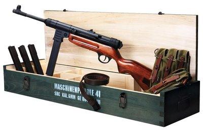 JHS((金和勝 生存遊戲專賣))免運費 SRC MP41 實木收藏箱 (不含槍)