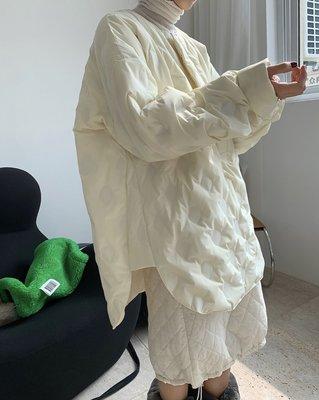 EURA。NEW 特殊壓紋圓領襯衫羽絨服設計感廓形溫暖外套