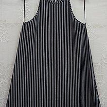 ZARA黑色條紋連身裙