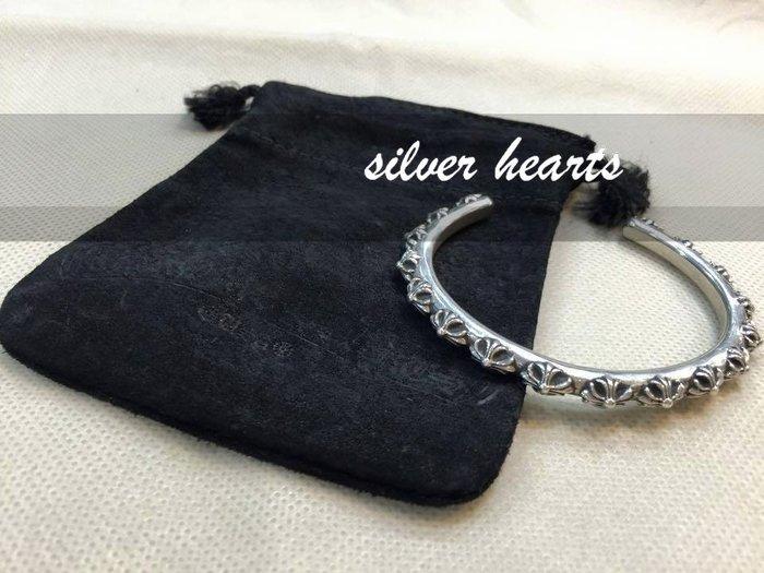 【SILVER HEARTS】Goro's Chrome Hearts 克羅心 經典十字 純銀手環 手鐲 手鍊