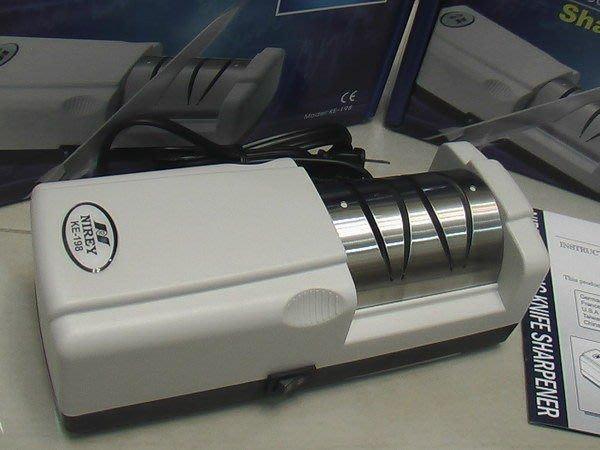 電視購物熱賣10年指定品牌-30秒搞定耐銳磨刀機KE-198(220V)-再送不沾刀2支+雪尼爾X8條