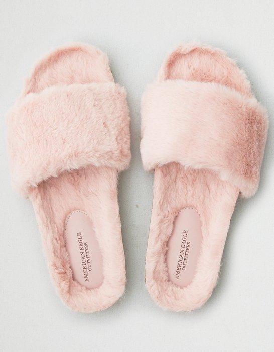 BJ.GO】AMERICAN EAGLE_女裝_AEO FUR SLIPPER 美國AEO毛毛拖鞋/涼鞋現貨
