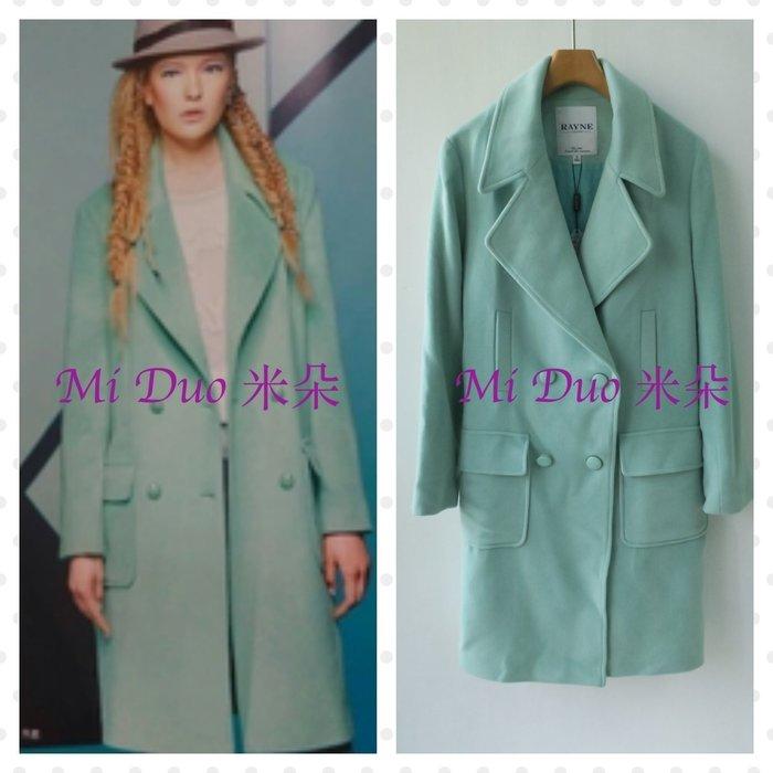 [現貨] RAYNE芮力㊣60%純羊毛 *淺綠*蘋果綠 蝙蝠袖飛鼠袖 中長大衣 (原價$15980元)