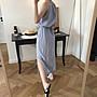夏季新品 訂製款細肩帶削肩小性感洋裝 度假風 長裙 收腰 連身裙 飄逸 [Classique*真經典] 052705