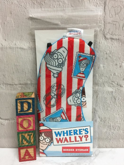 【Dona日貨】日本正版 Where's Wally? 威利在哪裡? 環遊世界 眼罩(出國旅行好幫手) C14