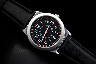 艾曼達精品~視覺系-潮店熱賣,軍風pilot style飛行風戰鬥機儀錶板,造型石英錶黑色真皮錶帶噴砂殼