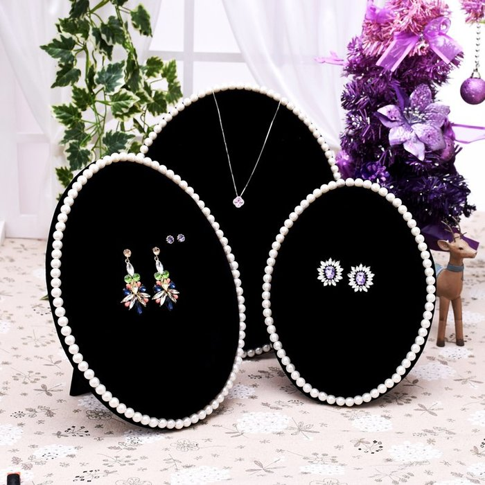 聚吉小屋 #耳釘架飾品架 耳環架 珍珠項鏈板加厚海綿板 可懸掛飾品展示道具