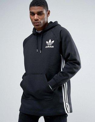 代購 adidas Originals Longline Hoodie  黑 帽T