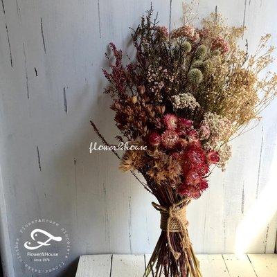 D01。乾燥花捧花。拍照捧花。乾燥胸花。頭花。客製新娘捧花。台北自取【Flower&House花藝之家】