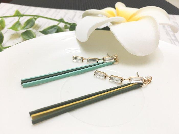 【寶寶王國】韓國晶燦造型銀針耳環  (商品編號  520-11687 )
