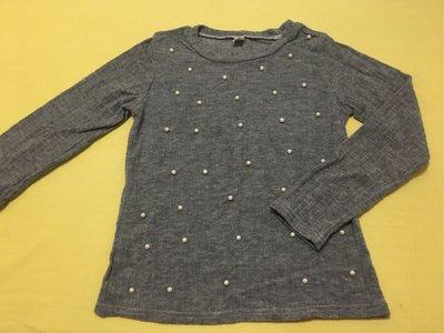 灰色珍珠針織衫 sizeM 100元含運