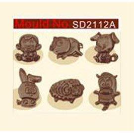 【巧克力模-立體冰格透明料-2112A...