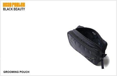 WaShiDa PLUS+【 HEAD PORTER BLACK BEAUTY 黑美 GROOMING POUCH 化粧包 隨身包 】- 預訂 HP-3133
