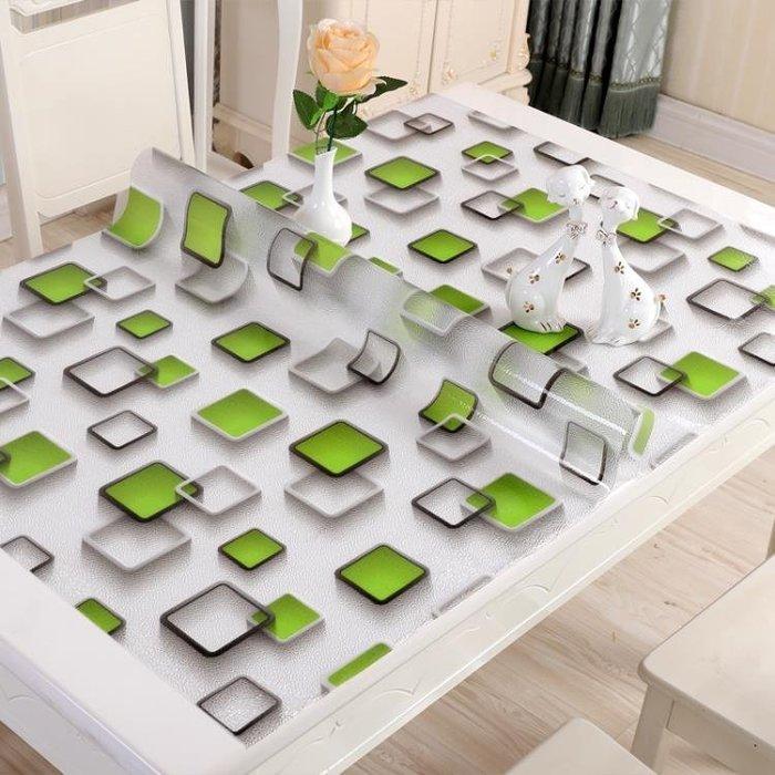 水晶板軟玻璃桌布防水防油防燙免洗茶幾墊透明磨砂PVC桌墊餐桌布