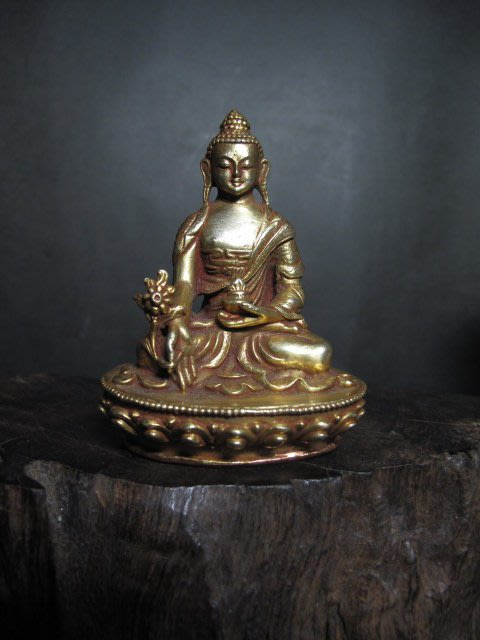 老銅雕◎ 銅鎏金 西藏小銅佛
