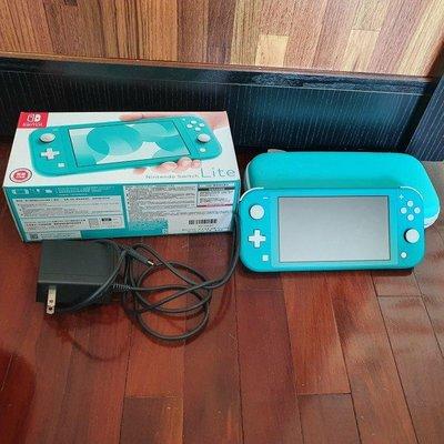 Nintendo Switch Lite 主機 附盒與保護殼 充電器