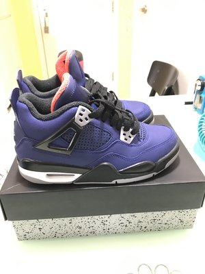 Nike Air Jordan 4 Retro Winter Loyal Blue 大童 4.5Y 全新 冇單