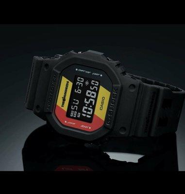 全新 CASIO G-SHOCK x THE HUNDREDS 35TH DW-5600HDR-1DR
