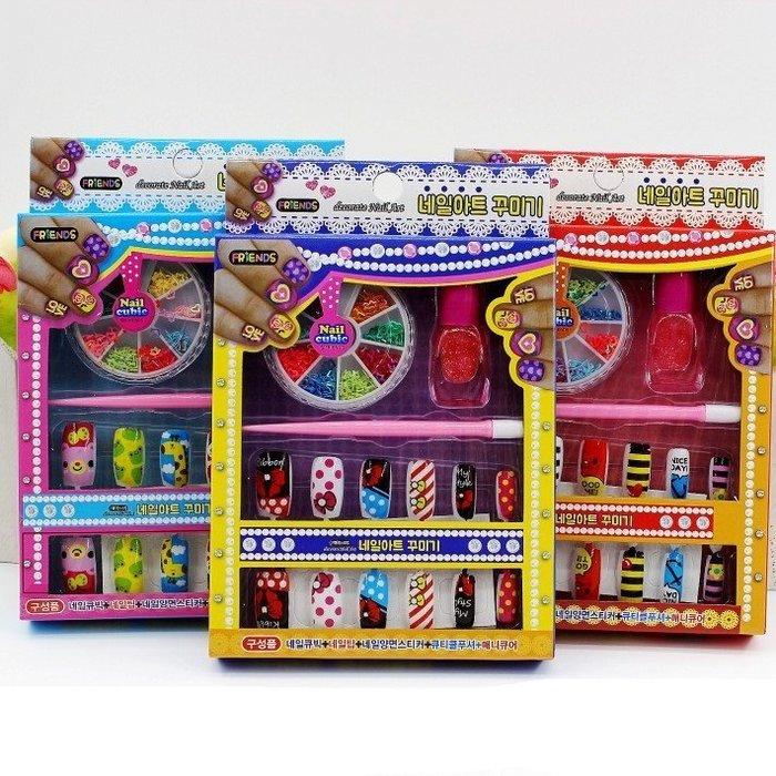 佳佳玩具 ----- 20入指甲套裝 彩妝盒 兒童 美甲 安全無毒 化妝品  家家酒【XF5603】