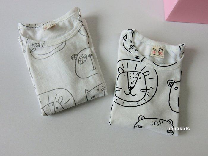 出清夏日款。男童裝。韓版可愛動物園圖鴨T恤 短袖T恤  (黑筆/灰筆) 現貨~nanakids娜娜童櫥