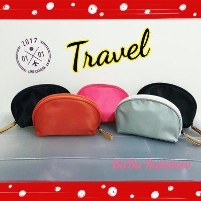 韓版時尚貝殼化妝包(小~5色可選) 收納包 尼龍 扇形化妝包 萬用包 旅行收納包 手拿包~♥BuBu彩虹小舖♥