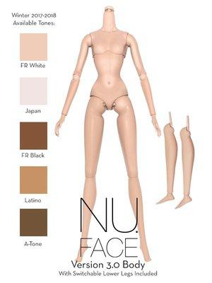 Integrity Toys Nu Face body NF娃娃素體 奶白 普肌 黑肌 白肌