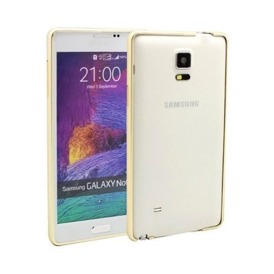 DJS 三星 SAMSUNG GALAXY NOTE 4 金色 金屬 邊框BUMPER CASE COVER PB257