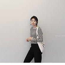 M SELECT 韓 超好看 細條紋長袖上衣 薄款針織衫 t恤 毛衣 針織上衣