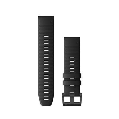 【桃園幸運草】*含稅**附發票* GARMIN FENIX 6 QUICKFIT 黑色矽膠錶帶 22mm