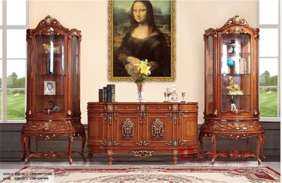 [紅蘋果傢俱] A178R 艾廷軒系列 頂級進口 歐式 法式  新古典 金箔雕花 四門電視櫃 餐櫃 玄關 酒櫃 櫥櫃