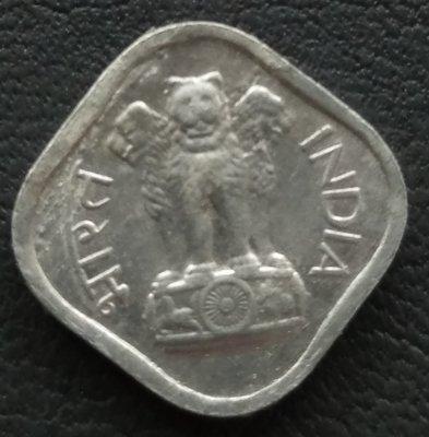印度 1968年 阿育王獅子   1 Paisa   銅幣 280-789