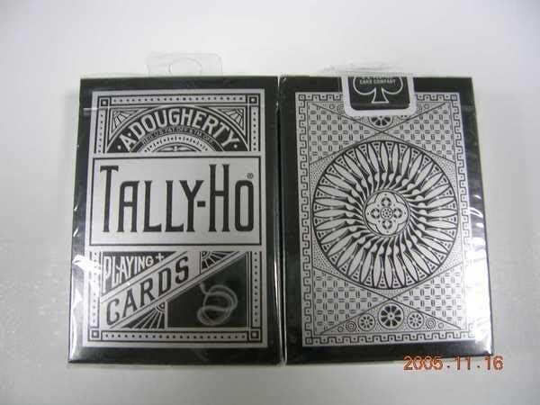 TALLY-HO 銀粉蛇 撲克牌  UV-500油墨-牌盒小壓