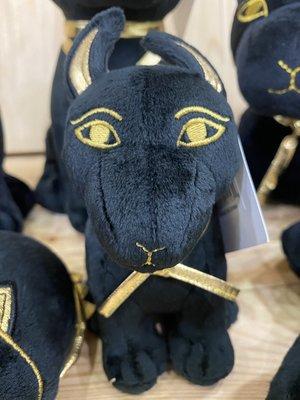 日本空運?? 大英博物館 紀念品 埃及 神話 胡狼頭神 阿努比斯 蹲坐姿 絨毛 娃娃 (小) 現貨