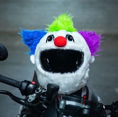 【丹】A_Moto Loot Helmet Cover 安全帽套 芝麻街 歡樂小丑